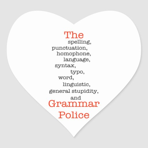 The Everything Police Heart Stickers