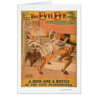 "The Evil Eye ""A Bird & a Bottle"" Theatre Card"