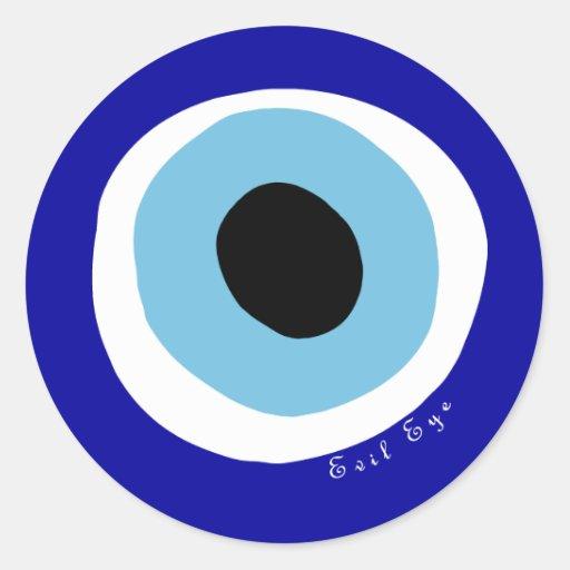 The evil eye round sticker