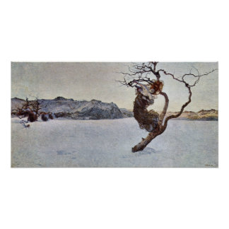The evil mothers by Giovanni Segantini Poster