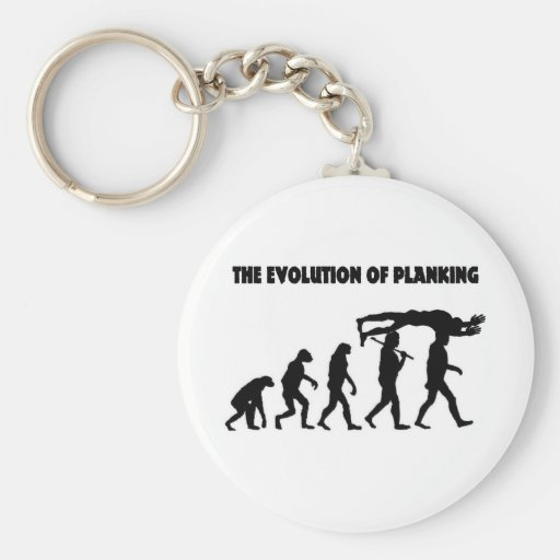 The Evolution Of Planking Keychain