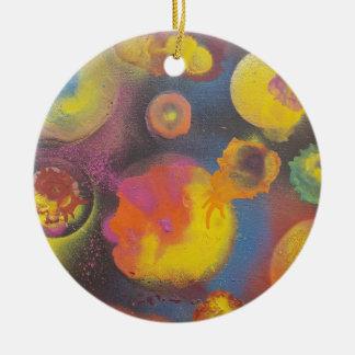 The Evolving Micro-Universe Ceramic Ornament