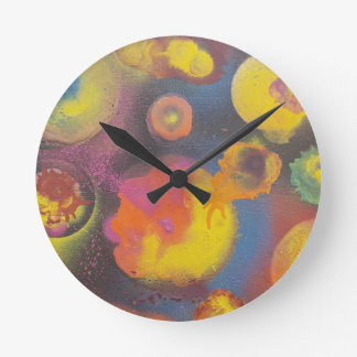 The Evolving Micro-Universe Round Clock