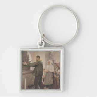 The Ex Voto, 1898 Silver-Colored Square Keychain