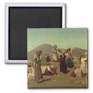 The Excavations at Pompeii, 1865 Refrigerator Magnet