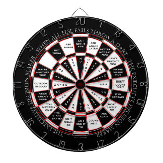 The Executive Decision Maker Magic 8 Ball Style Dartboard