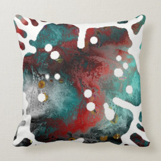 The Explosion Of The Paint Flower Throw Pillow