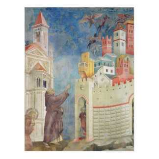 The Expulsion of the Devils from Arezzo, 1297-99 Postcard