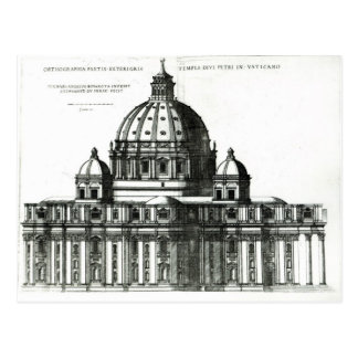 The Exterior of St. Peter's Basilica in Rome Postcard