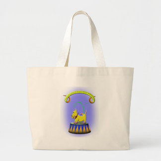 the extraordinary human footed scottie dog large tote bag