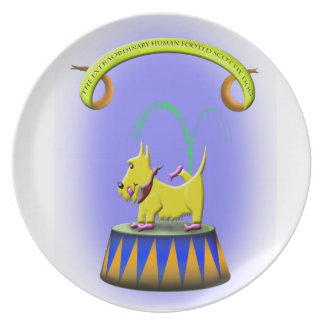 the extraordinary human footed scottie dog party plates