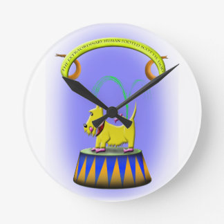 the extraordinary human footed scottie dog round clock