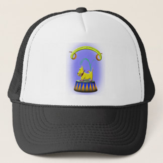 the extraordinary human footed scottie dog trucker hat