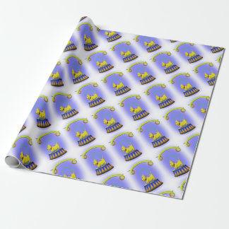 the extraordinary human footed scottie dog wrapping paper