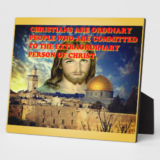 The Extraordinary Person Of Christ. Plaque