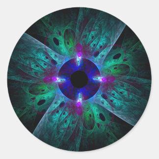 The Eye Abstract Art Round Sticker