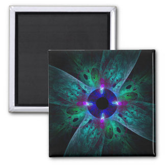 The Eye Abstract Art Square Magnet