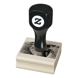 The eye of an elephant rubber stamp