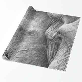 The eye of an elephant wrapping paper