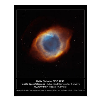 """The Eye of God"" Helix Nebula Hubble Telescope Poster"