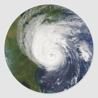 The Eye of Hurricane Isabel September 18 2003 Classic Round Sticker