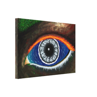 The Eye of Mother Nature Stretched Canvas Print