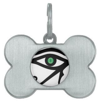 The Eye of Ra Pet Name Tags