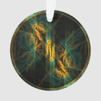 The Eye of the Jungle Abstract Art Acrylic Circle