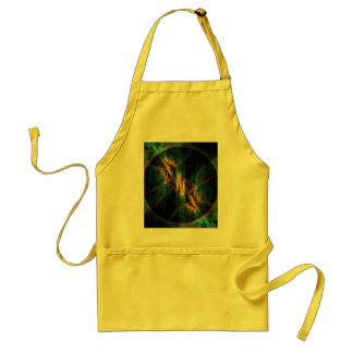 The Eye of the Jungle Abstract Art Apron