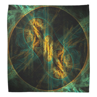 The Eye of the Jungle Abstract Art Bandana
