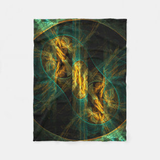 The Eye of the Jungle Abstract Art Fleece Blanket