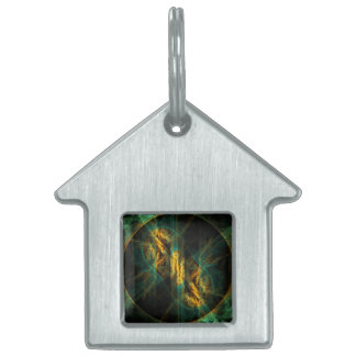 The Eye of the Jungle Abstract Art House Pet Tag