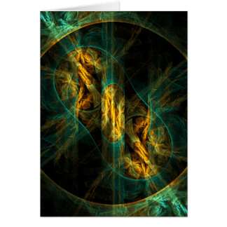 The Eye of the Jungle Abstract Art Note Card