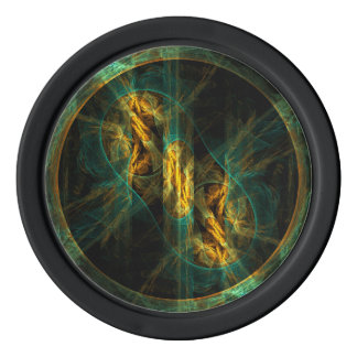 The Eye of the Jungle Abstract Art Poker Chips