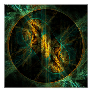The Eye of the Jungle Abstract Art Print