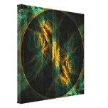 The Eye of the Jungle Abstract Art Wrapped Canvas Stretched Canvas Print