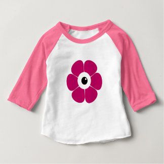 the eye of the pink flower baby T-Shirt