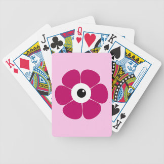the eye of the pink flower bicycle playing cards