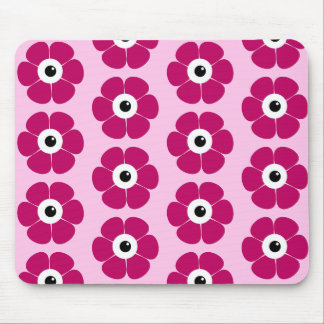 the eye of the pink flower mouse pad