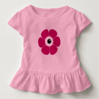 the eye of the pink flower toddler t-shirt