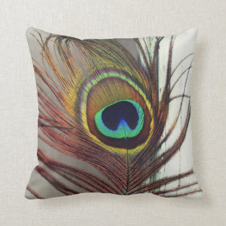 The Eye or Peacock Feather Resting Throw Pillow