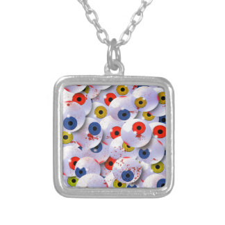 the eyeball collector square pendant necklace