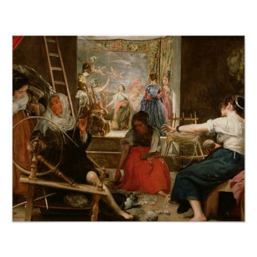 The Fable of Arachne, or The Spinners, c.1657 (oil Posters