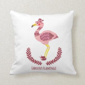 The Fabulous Flamingo Throw Pillow