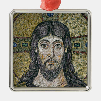 The face of Christ Silver-Colored Square Ornament