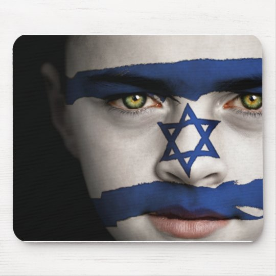 The face of Israel Mouse Pad