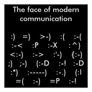 The face of modern communication poster