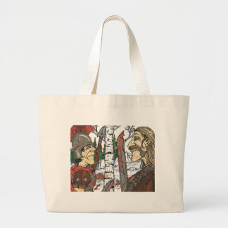 The Face Off Jumbo Tote Bag