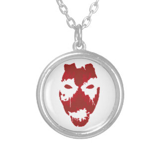 THE FACE OFF ROUND PENDANT NECKLACE