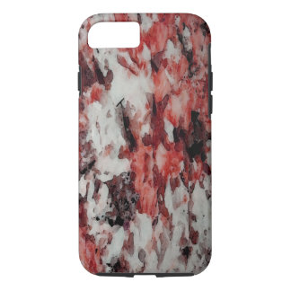 The Faces in the Ruby Red Snow iPhone 7 Case